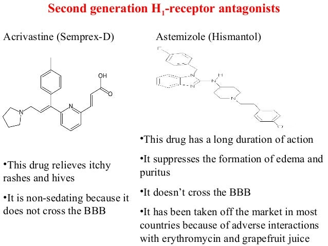 2nd generation non sedating antihistamines We conclude that the epidemiological evidence obtained from studies where 1st-generation antihistamines were newer, 2nd -generation h 1 non-sedating , in.