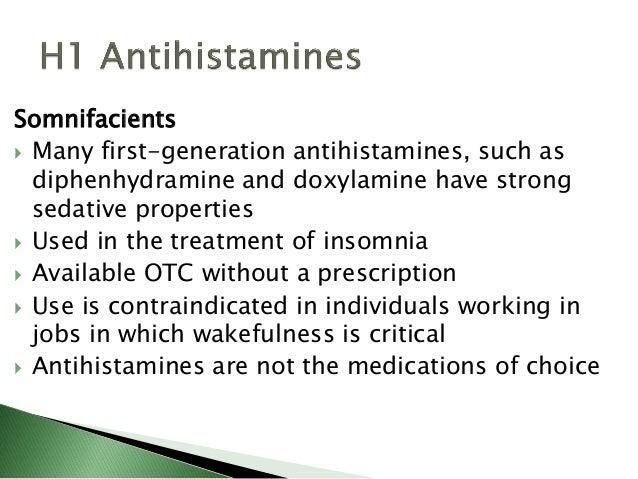 Antihistamines - Pharmacology