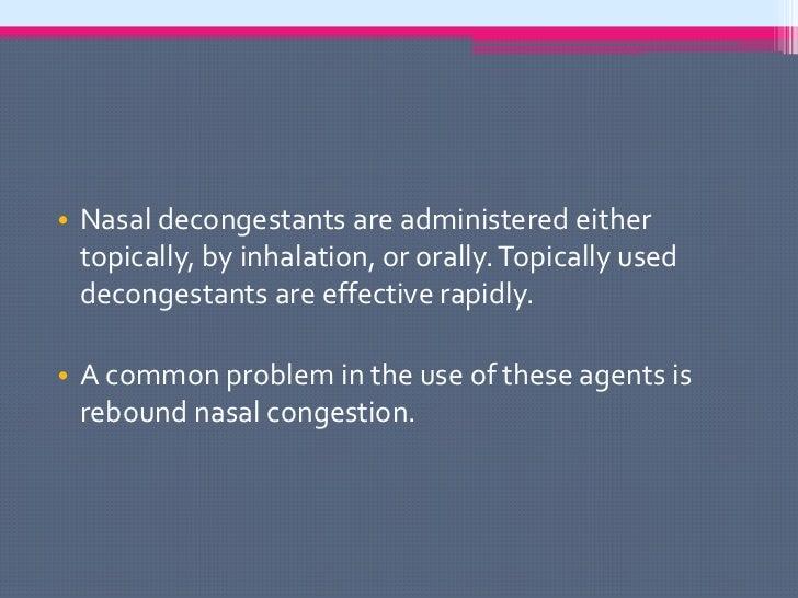 Antihistamines and nasal decongestants