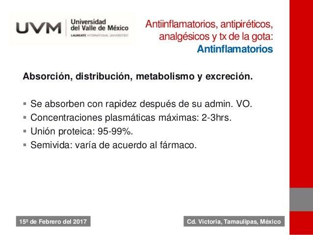 Absorción, distribución, metabolismo y excreción.  Se absorben con rapidez después de su admin. VO.  Concentraciones pla...