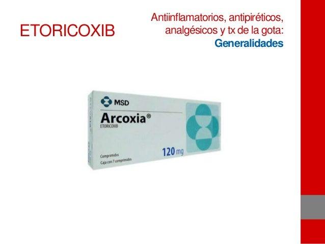 ETORICOXIB Antiinflamatorios, antipiréticos, analgésicos y tx de la gota: Generalidades