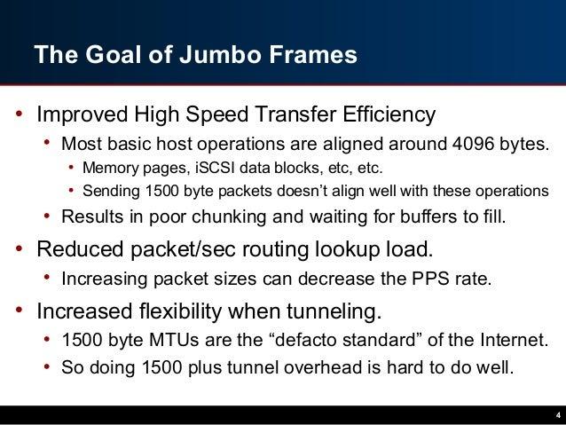 The Case Against Jumbo Frames