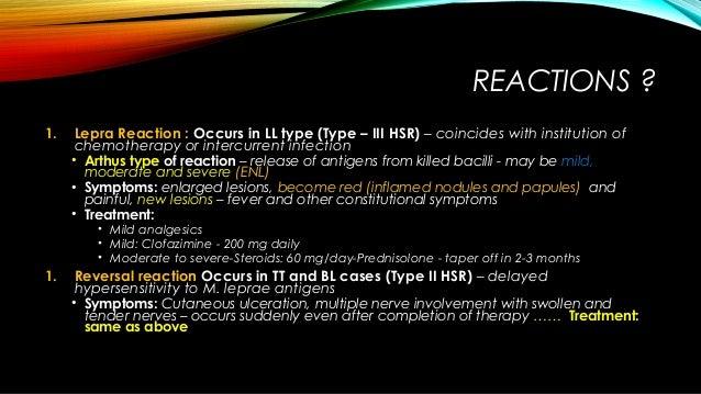 Antileprotic drugs - d... Type 2 Lepra Reaction