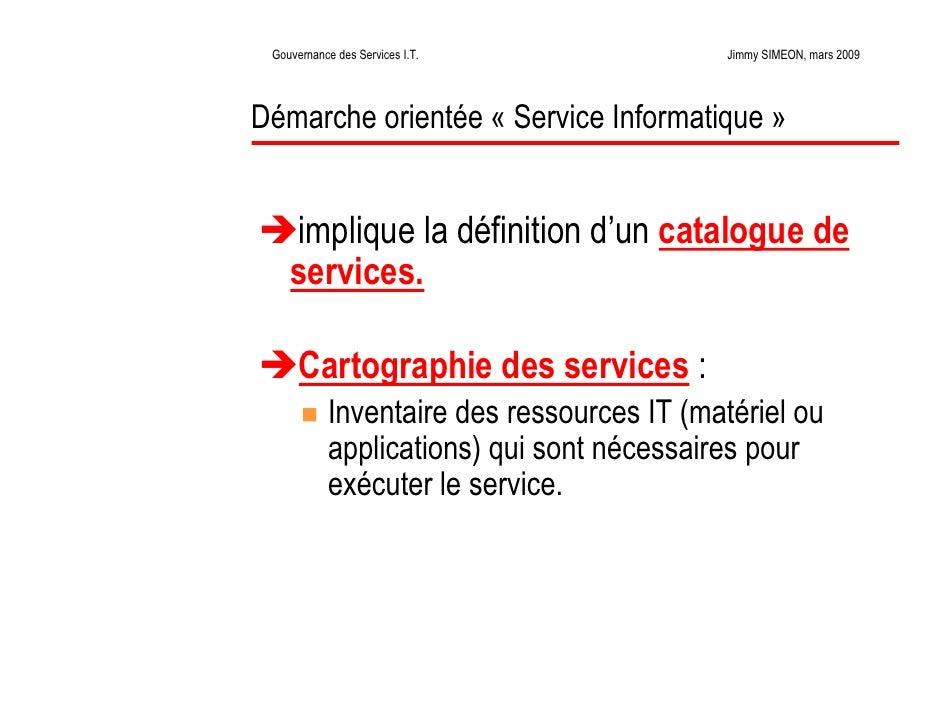 La gouvernance des services informatiques for Definition architecture informatique