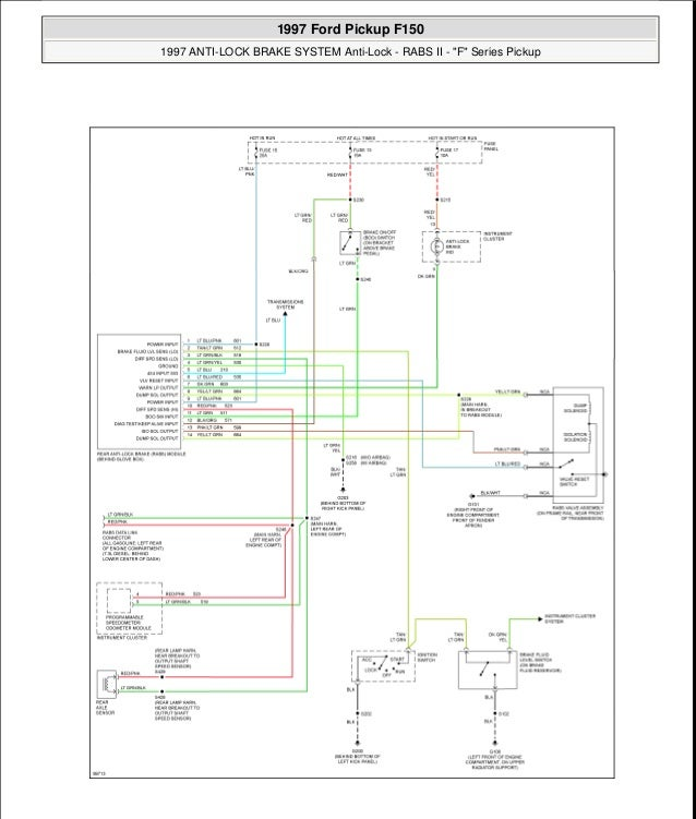 antilock brakes 1994 Ford F150 Brake System Diagram 1997 ford pickup f150 1997 anti lock brake system