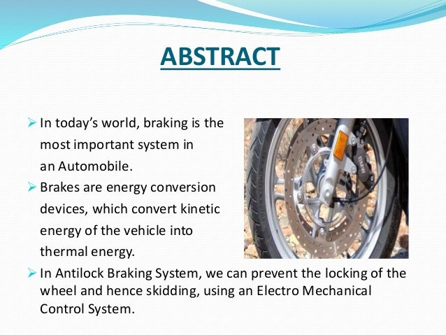history of braking system pdf