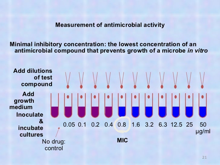 minimum inhibitory concentration thesis Umb digital archive  school, graduate  theses and dissertations all schools    vitro, the minimum bactericidal concentration (mbc) and minimum inhibitory .