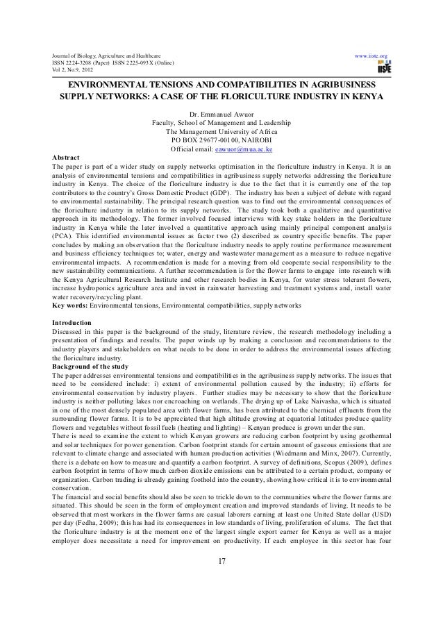 Journal of Biology, Agriculture and Healthcare                                                           www.iiste.orgISSN...