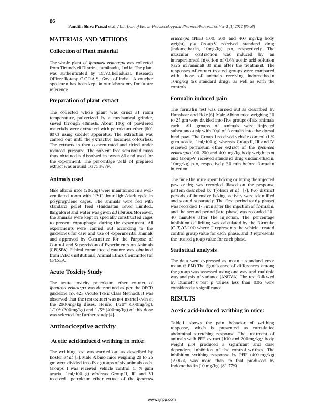 Anti ulcerative activity of ipomoea aquatica forsk