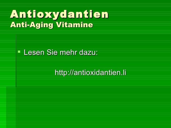 antioxidantien anti aging vitamine. Black Bedroom Furniture Sets. Home Design Ideas