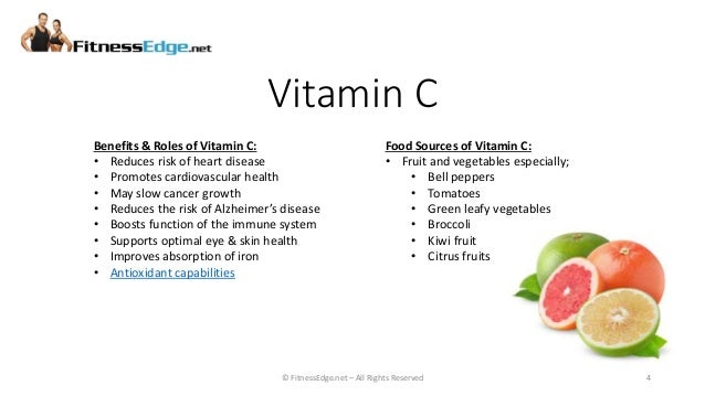 Antioxidant Vitamin Food Sources PowerPoint