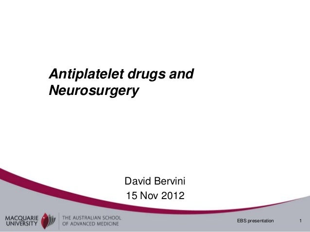 Antiplatelets and nch asam