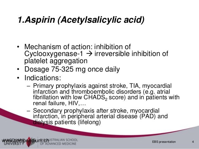 aspirin mode of action pdf