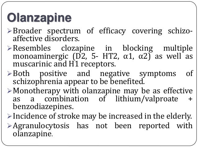 Olanzapine Dosage For Elderly