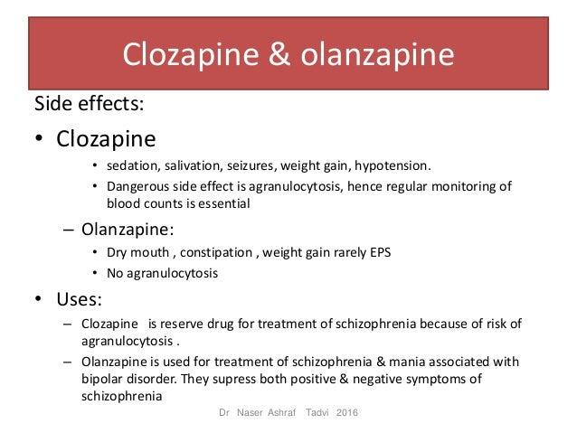 Sedating anti psychotics for schizophrenia
