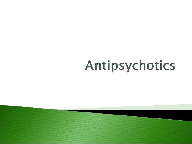 pharmacology of antipsychotic drugs pdf