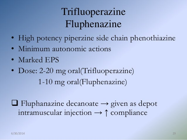 fluphenazine decanoate injection manufacturers