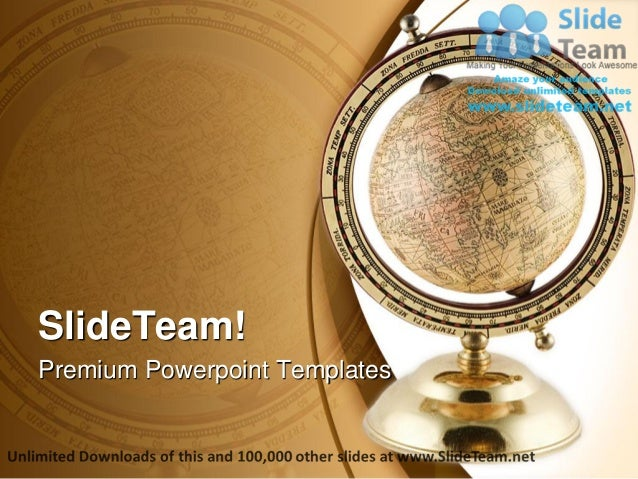 antique globe geographical power point templates themes and backgroun
