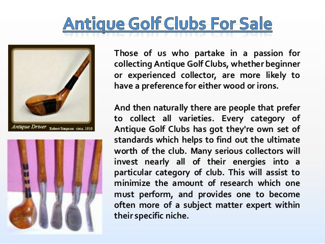 Antique Golf Clubs For Sale