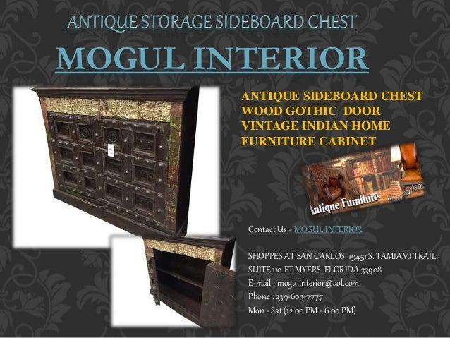 Antique Storage Vintage Sideboard By Mogulinterior