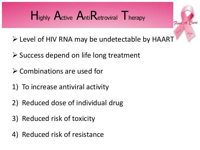 Antiretroviral therapy: drugs, mechanism of action, adverse.