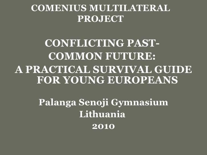 COMENIUS   MULTILATERAL PROJECT <ul><li>CONFLICTING PAST-  </li></ul><ul><li>COMMON FUTURE:  </li></ul><ul><li>A PRACTICAL...