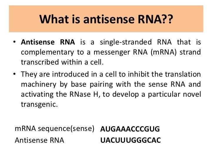 antisense rna technology and its applications