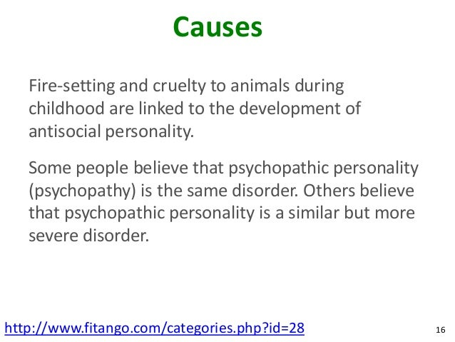 an overview of antisocial personality disorder Antisocial personality disorder is characterized by patterns of manipulation and violation of others learn about symptoms and treatment.