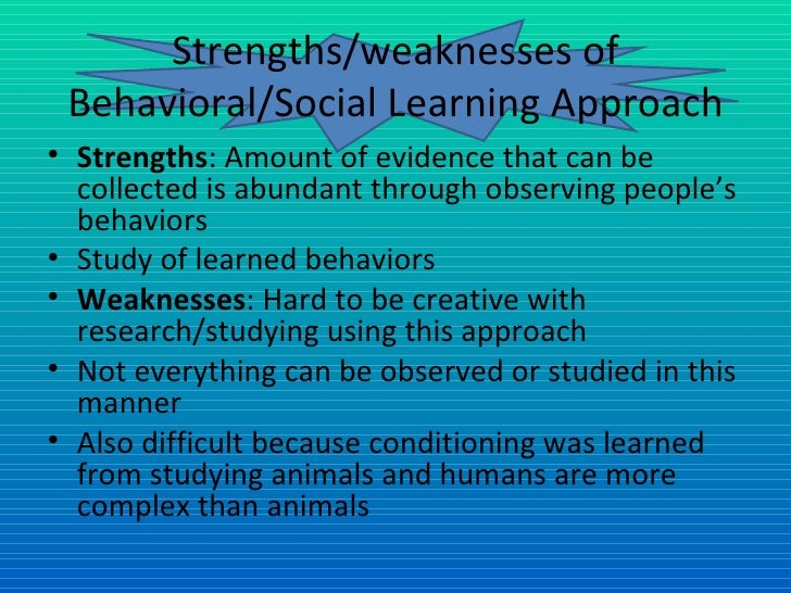 strength s and weaknesses of using personality and development theories There are four major perspectives on personality theories the 4 major personality perspectives share pin email search the site go more in theories personality psychology behavioral psychology biological psychology emphasized the social elements of personality development.