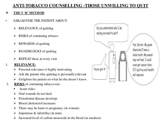 Anti tobacco counceling