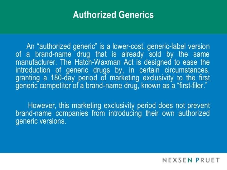 FTC to study authorized generics | Drug Topics