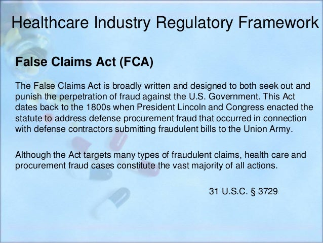 The False Claims Act