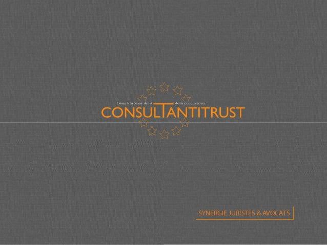 Compliance en droit de la concurrence SYNERGIE JURISTES & AVOCATS