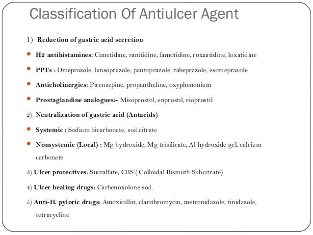 Med chem lecture on anti ulcer drugs.