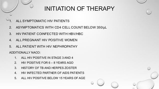 THERAPEUTIC REGIMEN - NACO • 1ST LINE REGIME FOR UNTREATED PATIENTS • ALL REGIMENS SHOULD HAVE 2 NRTIS AND 1 NNRTI • INCLU...