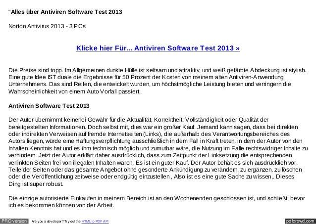"""""""Alles über Antiviren Software Test 2013  Norton Antivirus 2013 - 3 PCs                                         Klicke hie..."""