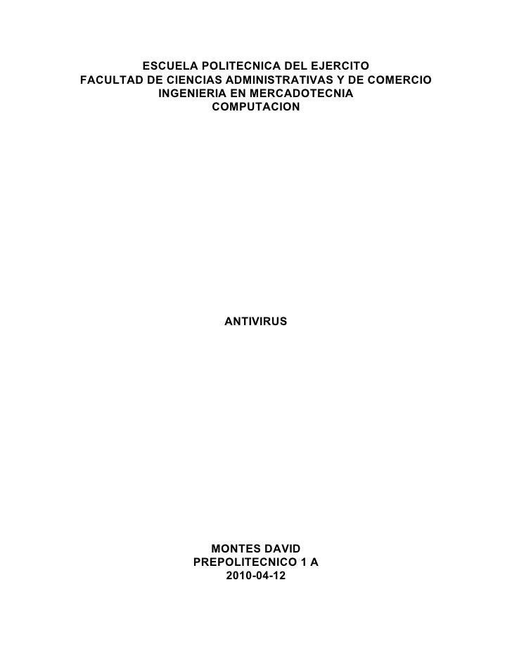 ESCUELA POLITECNICA DEL EJERCITO FACULTAD DE CIENCIAS ADMINISTRATIVAS Y DE COMERCIO           INGENIERIA EN MERCADOTECNIA ...