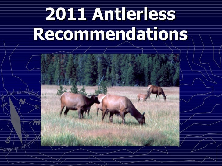 2011 Antlerless Recommendations