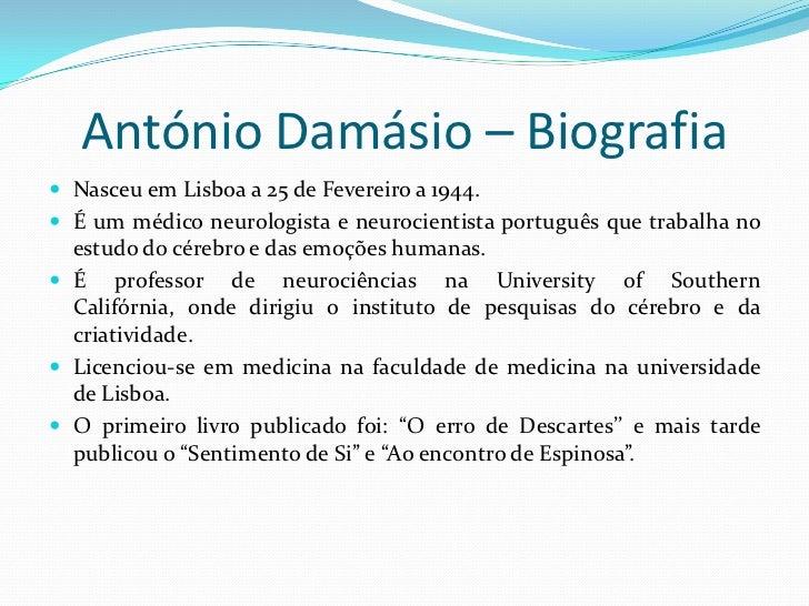 António Damásio   Slide 3