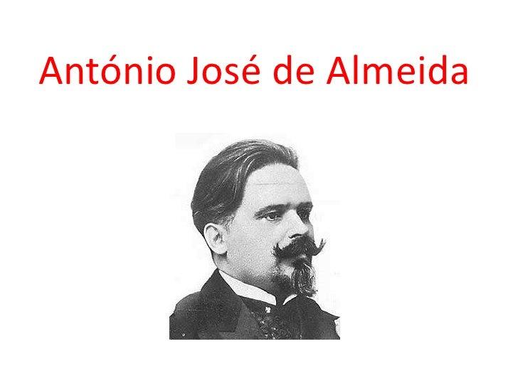 António José de Almeida<br />