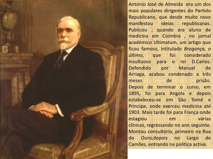 António José de Almeida Slide 2