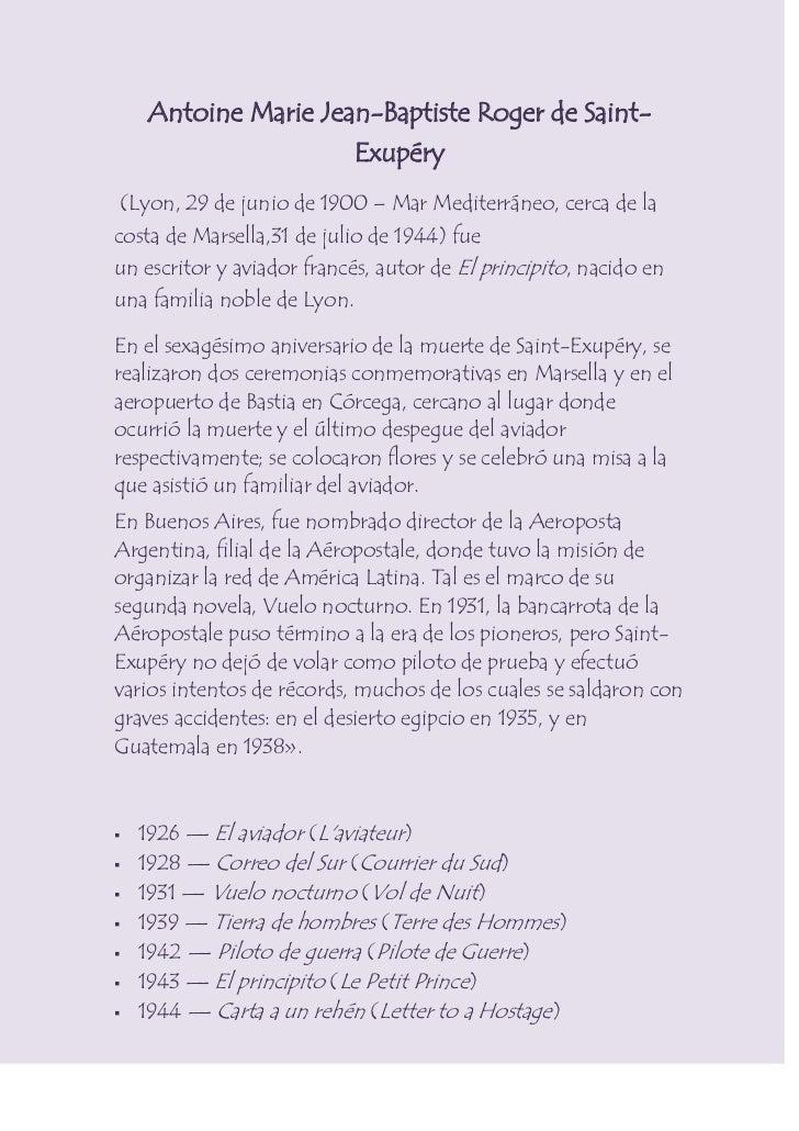 Antoine Marie Jean-Baptiste Roger de Saint-Exupéry<br />(Lyon,29 de juniode1900–Mar Mediterráneo, cerca de la costa ...