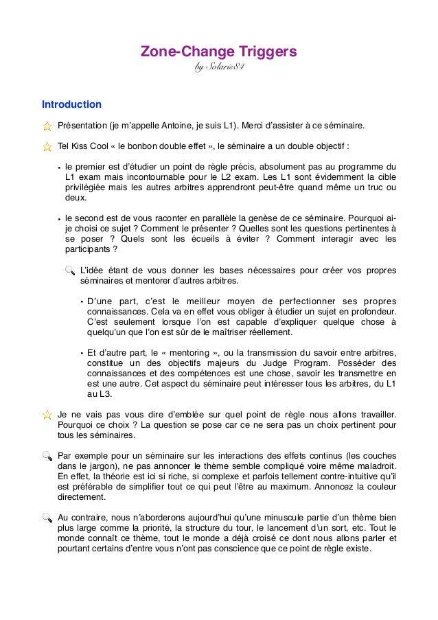 Zone-Change Triggers by Solaris84 Introduction ⭐ ️ Présentation (je m'appelle Antoine, je suis L1). Merci d'assister à ce ...