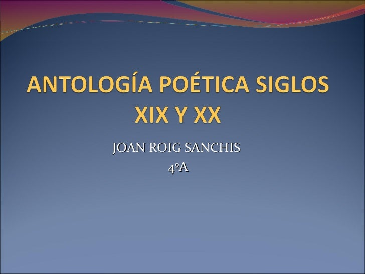 JOAN ROIG SANCHIS  4ºA