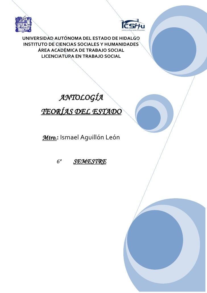 UNIVERSIDAD AUTÓNOMA DEL ESTADO DE HIDALGOINSTITUTO DE CIENCIAS SOCIALES Y HUMANIDADES      ÁREA ACADÉMICA DE TRABAJO SOCI...