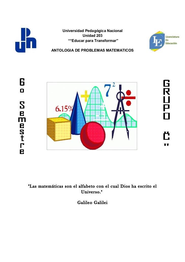 """Universidad Pedagógica Nacional                          Unidad 203                  """"""""Educar para Transformar""""           ..."""