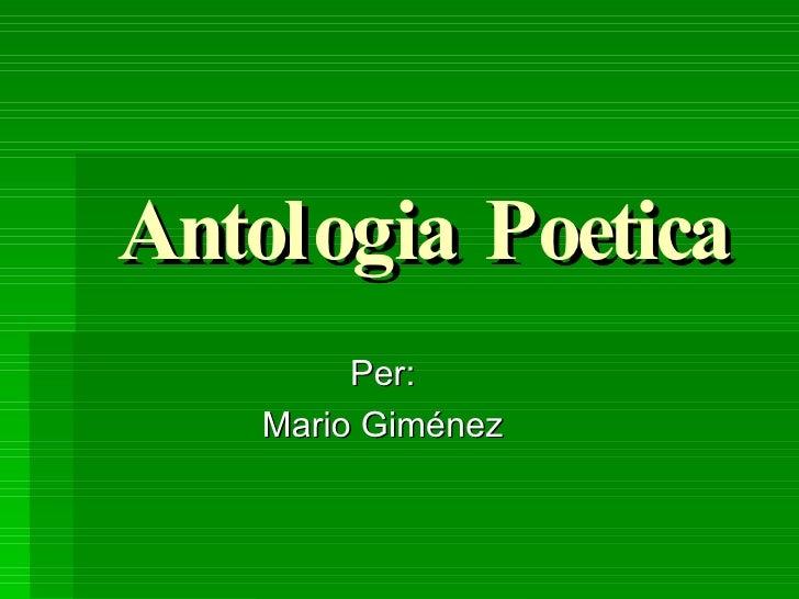 Antologia Poetica Per: Mario Giménez