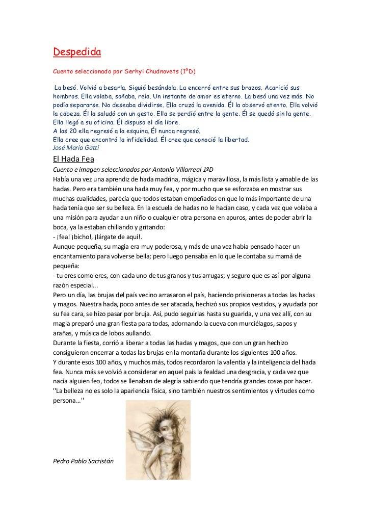 Antología de  microcuentos seleccionados por alumnos de primer Ciclo