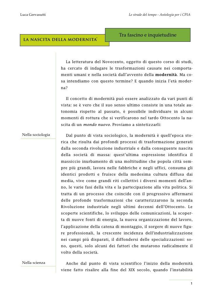 Luca Gervasutti                                         Le strade del tempo - Antologia per i CPIA                        ...