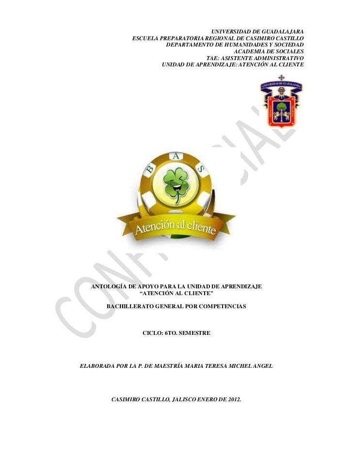 UNIVERSIDAD DE GUADALAJARA               ESCUELA PREPARATORIA REGIONAL DE CASIMIRO CASTILLO                         DEPART...